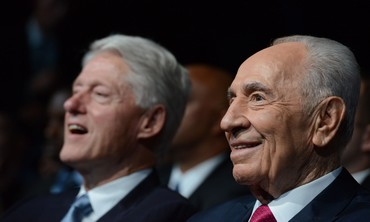 President Shimon Peres at his 90th birthday celebration June 18, 2013.