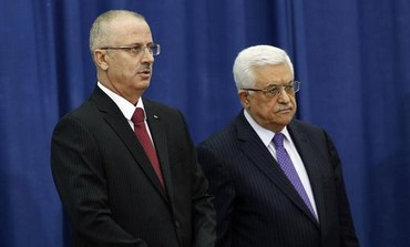 PA President Abbas with new prime minister Hamdallah.