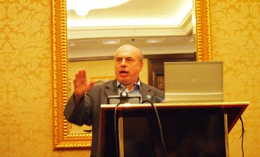 Natan Sharansky speaking at the JAFI BOG in Kiev on Sunday