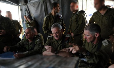 IDF Chief of Staff Benny Gantz during the surprise IDF drill, June 23, 2013.