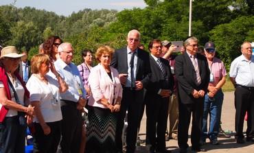 Uri Ariel and Sofa Landver at Babi Yar, June 25, 2013.