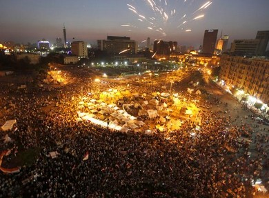 Protests in Egypt.