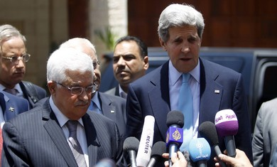 Kerry and Abbas in Ramallah, June 30, 2013