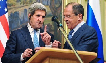 US Secretary of State Kerry and Russian FM Lavrov