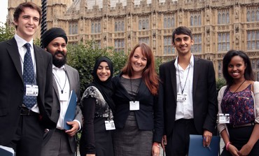 ParliaMentor students outside Parliament