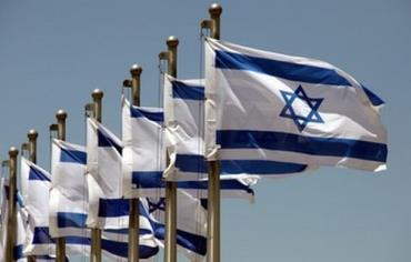Israeli flags.