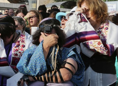 Women of the Wall protest at the Western Wall, July 8, 2013.