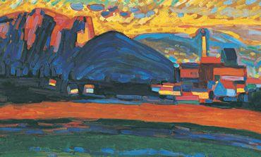 Wassily Kandinsky, Mountain Landscape with Village I, 1908