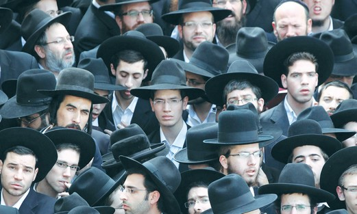 Ultra-Orthodox Jewish men.