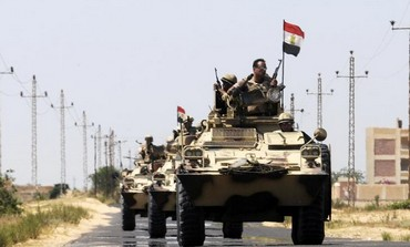 Egyptian army near El-Arish in the Sinai peninsula, May 21, 2013.