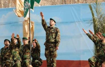 Hezbollah members rally in Beirut