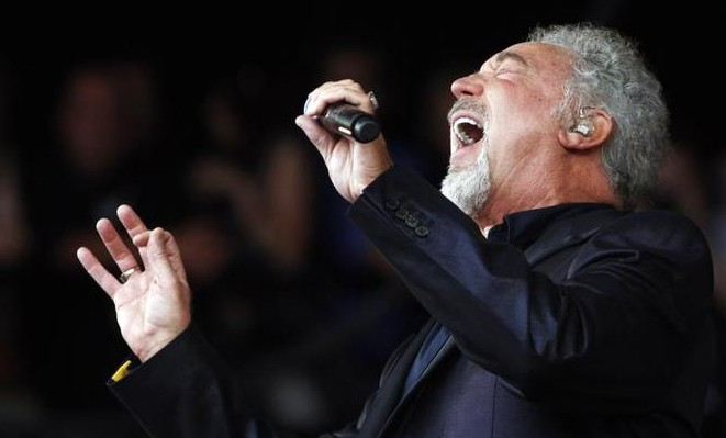 Tom Jones performing at Glastonbury, June 2009.