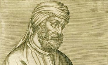 A woodcut illustration depicting Tertullian.