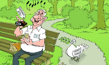 Cartoon from 'Stuttgarter Zeitung'/