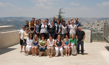 Group photo of the Holocaust Educational Trust teachers at Yad Vashem in August, 2013.