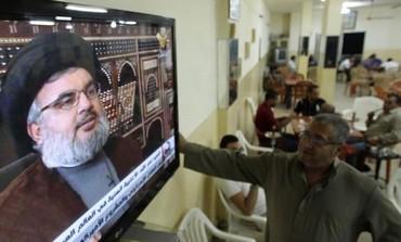 Lebanon's Hezbollah leader Hassan Nasrallah on Hezbollah's Al-Manar TV.