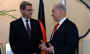 Prime Minister Binyamin Netanyahu meets with German FM Guido Westerwelle, August 12, 2013.