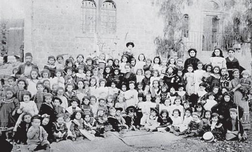 THE FIRST Hebrew Kindergarten, established by B'nai B'rith Jerusalem Lodge. (