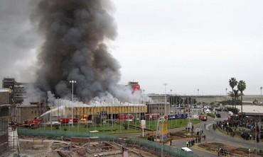 The Jomo Kenyatta International Airport goes up in flames, in Nairobi, Kenya, August 7, 2013.