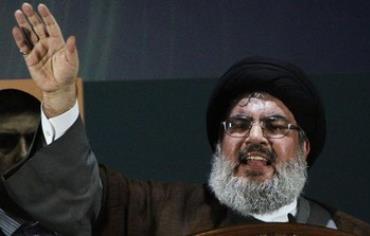Hezbollah leader Hassan Nasrallah in rare public speech, August 3, 2013.