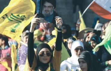 Hezbollah supporters rally in south Lebanon