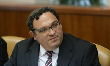 Education Minister Shai Piron at the weekly cabinet meeting, August 25, 2013.