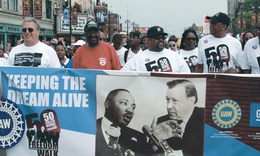 50th Anniversary Commemorative Freedom Walk in Detroit last month.