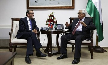 Espen Barth Eide meet with PA President Abbas August 27, 2013.