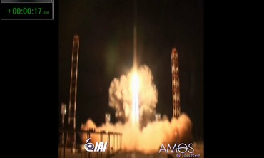 Amos 4 satellite launch, August 31, 2013.