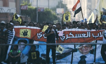 Muslim Brotherhood supporters protest in Cairo, August 30, 2013.