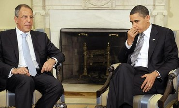 US President Barack Obama and Russian FM Sergei Lavrov [file]