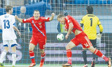 Russia defeats Israeli national soccer team 370