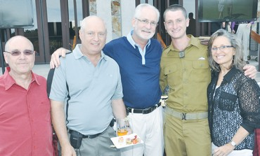CPL. MAX (second from right), is serving in the Golani Brigade.
