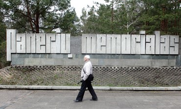 The Holocaust memorial at Paneriai near Vilnius, Lithuania