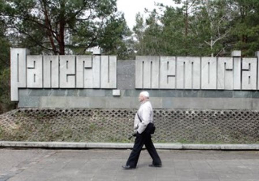 The Holocaust memorial at Paneriai near Vilnius, Lithuania