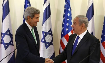 Prime Minister Binyamin Netanyahu and US Secretary of State John Kerry in Jerusalem, Sept. 15
