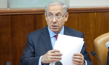 Prime Minister Binyamin Netanyahu attending the weekly cabinet meeting in Jerusalem, Sept. 17, 2013.