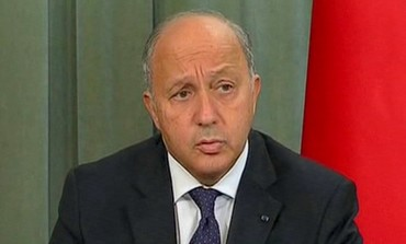 French Foreign Minister Laurent Fabius speaks during a TV conference on September 17, 2013.