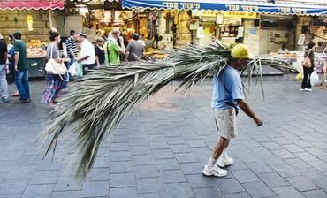 Preparing for Succot in Jerusalem's Mahaneh Yehuda Market