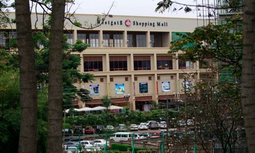 The Westgate shopping mall during a shootout between armed men and the police in Nairobi Sept. 22