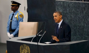 President Barack Obama addressing the UNGA in New York, September 24, 2013.