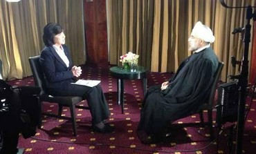 Iranian President Hassan Rouhani interviewed by CNN's Christiane Amanpour.