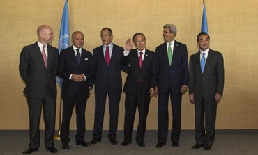 Foreign Ministers from the permanent five countries of the UN Security Council, September 25, 2013.