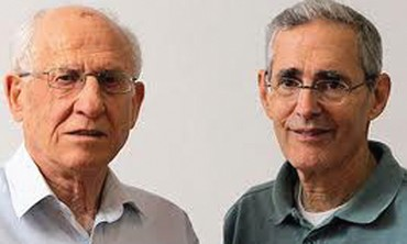 PROF. AHARON RAZIN (left) and Prof. Howard (Chaim) Cedar.