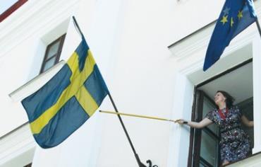 The Swedish flag.