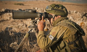 An IDF soldier on the Golan Heights