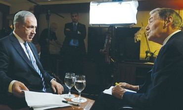 PM Netanyahu with PBS' Charlie Rose