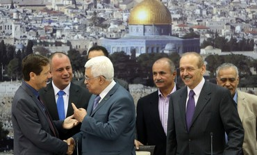 PA President Abbas and MK Hilik Bar in Ramallah
