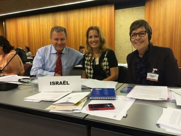 L-R: MKs Sheetrit and Lavie, Knesset Secretary Yardena Maller-Horowitz