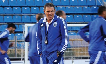 Israel's coach Eli Gutman